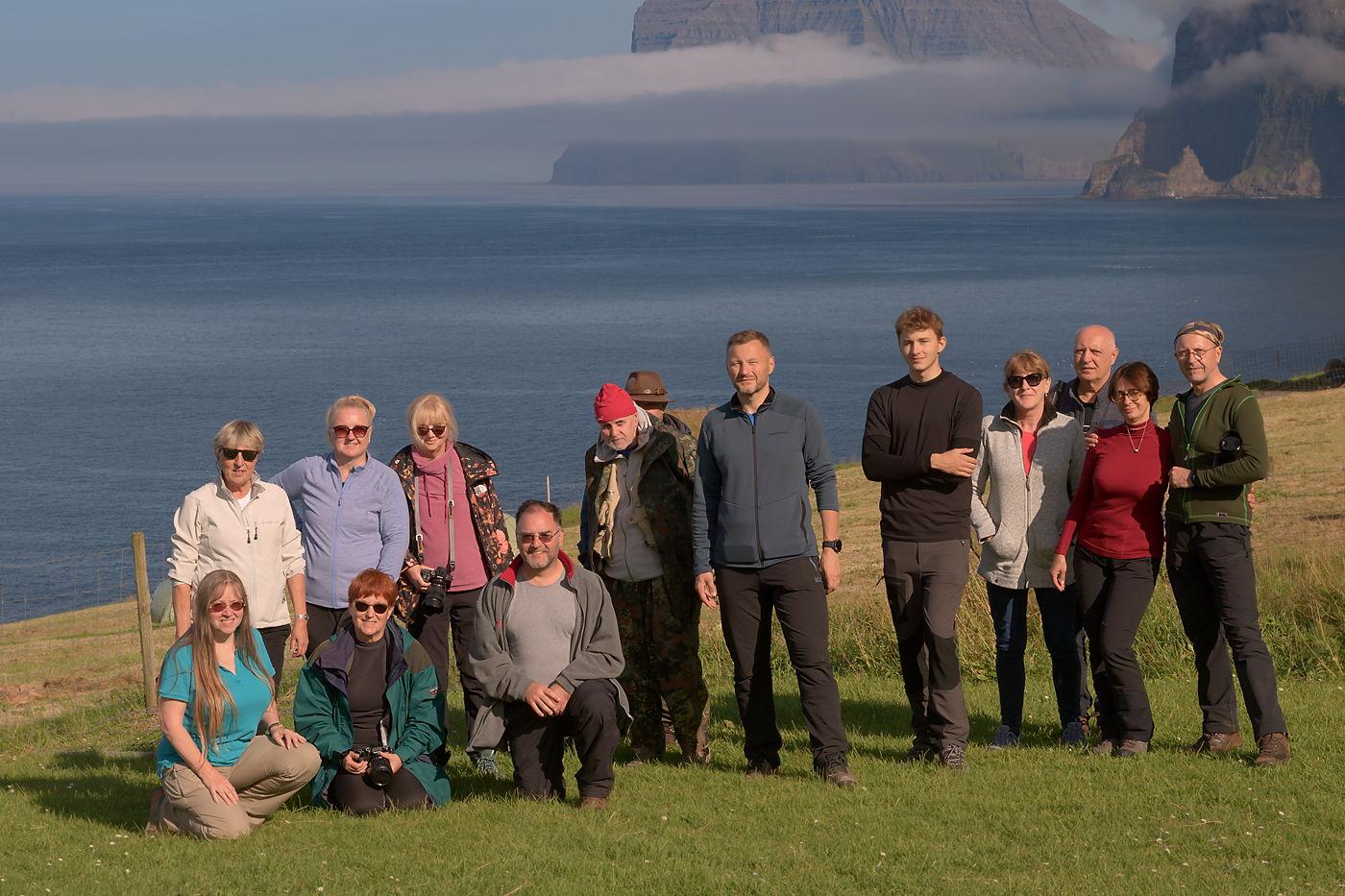 Uczestnicy fotowyprawy na Wyspy Owcze 2021