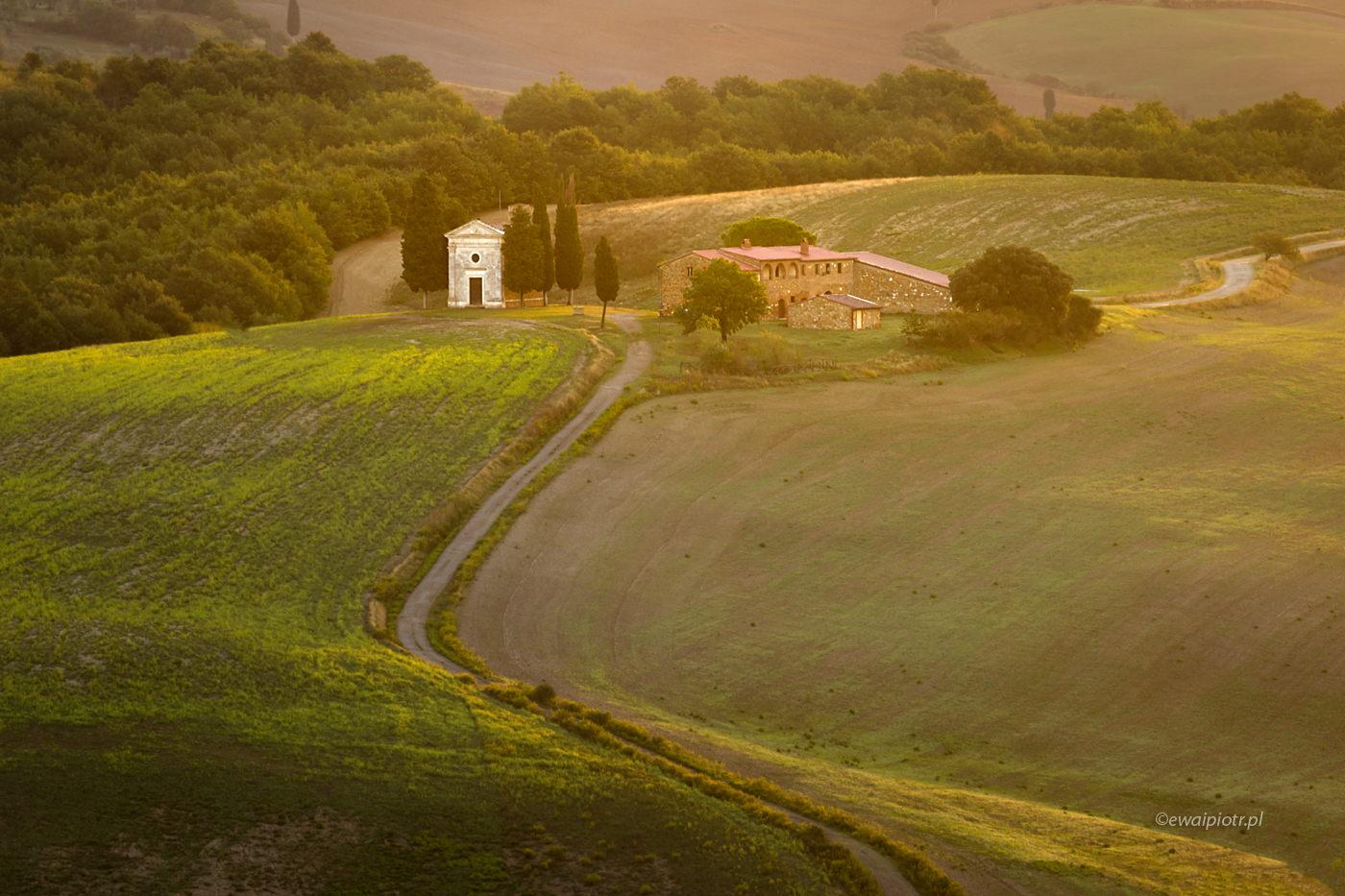 Madonna di Vitaleta o poranku, Toskania